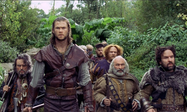 Bob Hoskins (second right) in his final film role, Snow White And The Huntsman, 2012