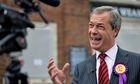 Nigel Farage canvassing in September 2013