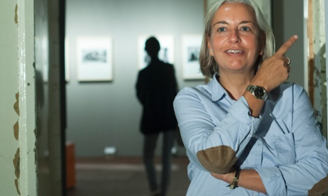 Anja Niedringhaus at an exhibition of her work in Berlin in 2011.