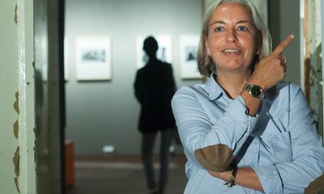 Anja Niedringhaus at an exhibition of her work in Berlin in 2011.