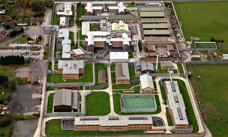 aerial view of Hindley young offender institution near Wigan.