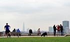 Skies cleared of smog, Primrose Hill, London, Britain - 04 Apr 2014