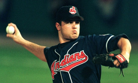 Cleveland Indians pitcher Jaret Wright during the first inning of the 1997 World Series.