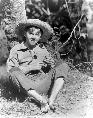 Mickey Rooney as Huckleberry Finn