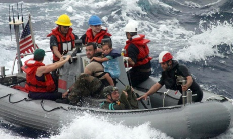 US navy baby rescue