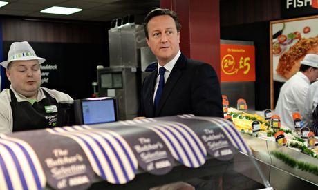 David Cameron at the Asda store in Clapham