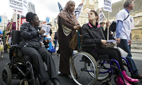 Disabled people protest hardest hit