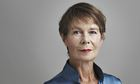 Celia Imrie with a hint of a smile and upturned