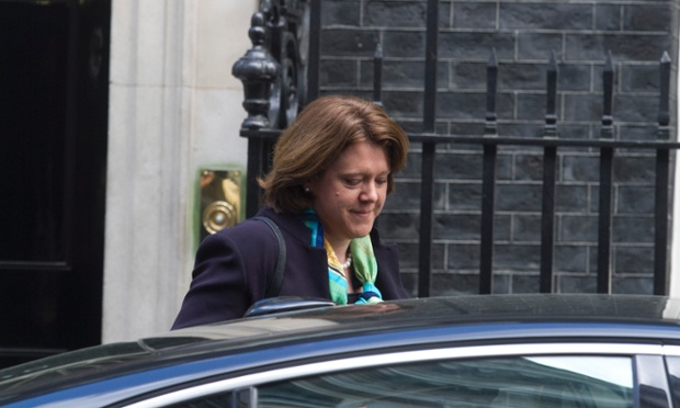 Maria Miller leaving No 10 after this morning's cabinet meeting.