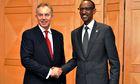 Tony Blair, Rwandan president Paul Kagame
