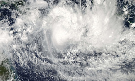 Cyclone Ita churns off the coast of Australia.