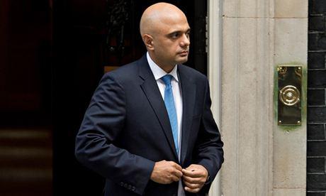 Former Treasury Minister Sajid Javid lea