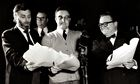 Spike Milligan, Peter Sellers and Harry Secombe performing The Goon Show.