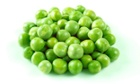 Group of fresh green peas - studio shot