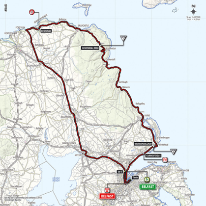 Map of today's course