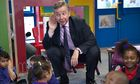 Michael Gove at the Woodpecker Primary Academy School in Edmonton, north London, in 2011