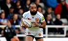 Fetu'u Vainikolo, who scored Exeter's third try in the 79th minute, on the ball v Newcastle Falcons