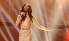 Conchita Wurst representing Austria performs during the Eurovision Song Contest 2014 Grand Final in Copenhagen, Denmark.