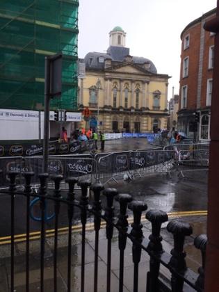 The Giro d'Italia third stage finish in Dublin