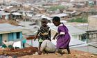 Children play in a Kenya slum