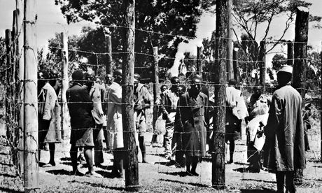 Suspected Mau Mau fighters in  Kenya in 1952