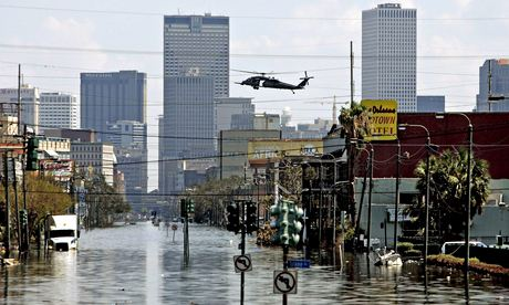 The aftermath of Hurricane Katrina in New Orleans in 2005