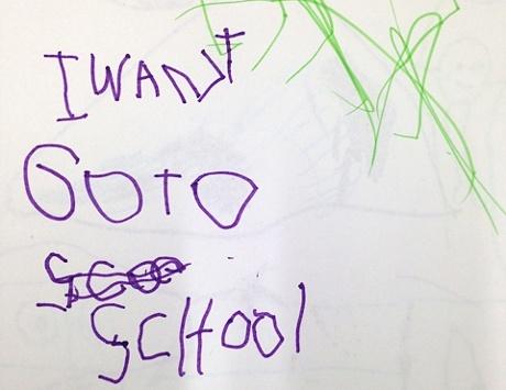 children drawing school