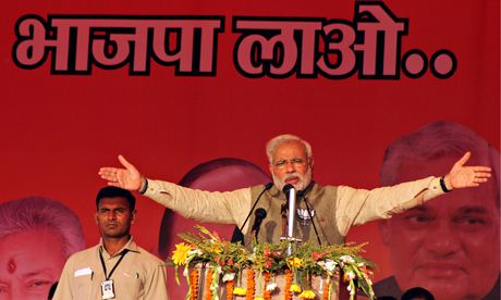 Modi addressing rally in Allahabad