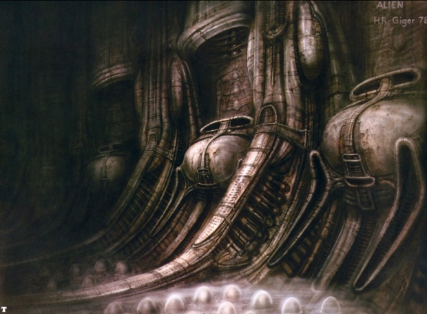 HR Giger artwork for Alien.