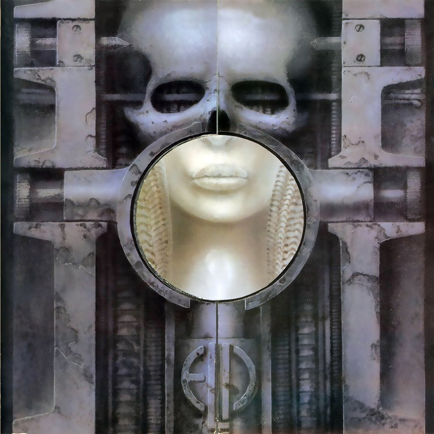 The cover of the 1973 album Brain Salad Surgery by Emerson, Lake and Palmer, designed by HR Giger.