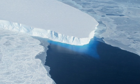 The study honed in on the Thwaites glacier – the soft underbelly of the Antarctic ice sheet. Photograph: Jim Yungel/NASA
