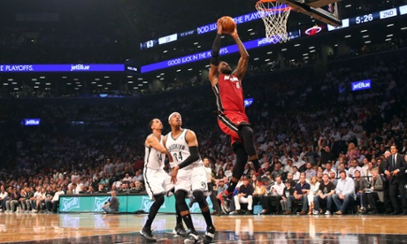LeBron James led the Miami Heat to a 3-1 NBA playoffs series lead over the Brooklyn Nets at the Barclays Center.
