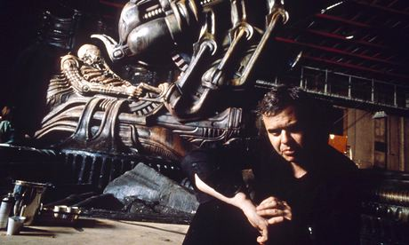 HR Giger on set in 1993.