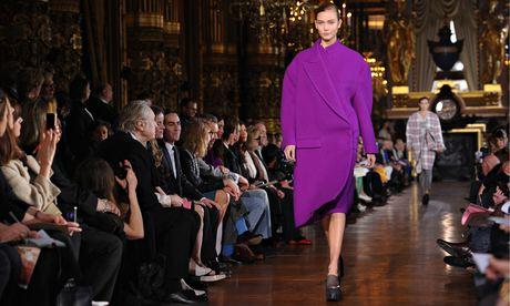 A model with a Stella McCartney creation at last year's Paris fashion week.