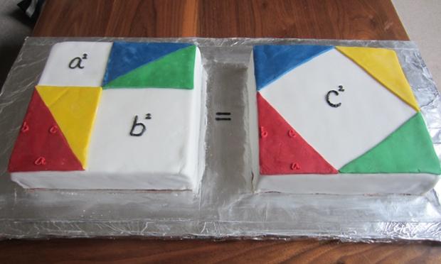 Pythagoras Theorem cake