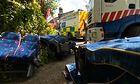 Screen grab of coach crash in Cornwall.