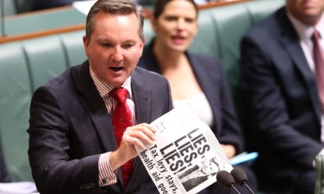 Shadow Treasurer Chris Bowen moves an MP I after question time in the House of Representatives this afternoon.