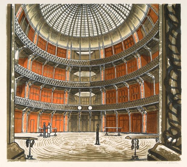 The Coal Exchange, 1963, colour autolithograph.