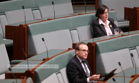 Only Indi independent Cathy McGowan and the Greens' Adam Bandt turned up for Shorten's speech on the crossbenches. Clive Palmer, Bob Katter and Andrew Wilkie were not in the chamber.