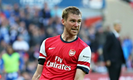 Per Mertesacker, the Arsenal defender, is valued at the club as a leader, organiser and protector