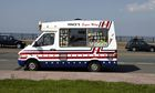 An ice-cream van in New Brighton.