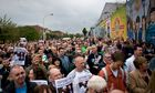 Protest at continued detention of Sinn Fein's Gerry Adams