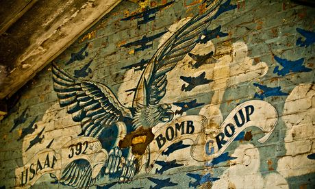 Wartime mural at airbade in Norfolk