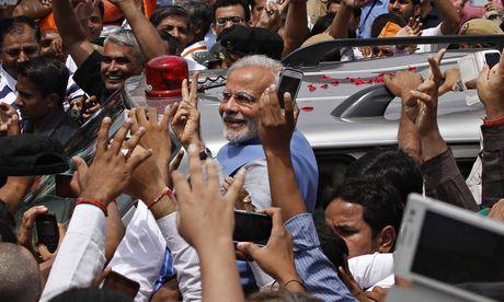 Narendra Modi in Delhi