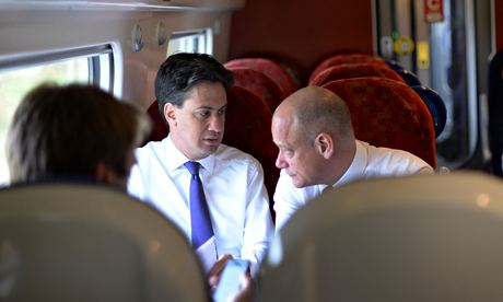 Labour leader Ed Miliband and Bob Roberts