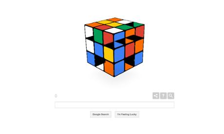 Rubik's Cube Google doodle