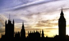 The sun sets on the Houses of Parliament