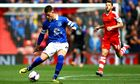 Ross Barkley playing for Everton v Southampton