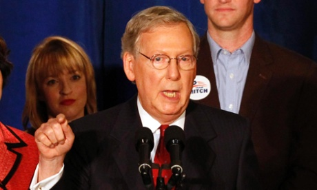 Mitch McConnell addressed supporters Tuesday night, but it wasn't a eulogy for the tea party insurgency.