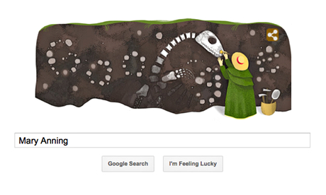 Mary Anning Google doodle
